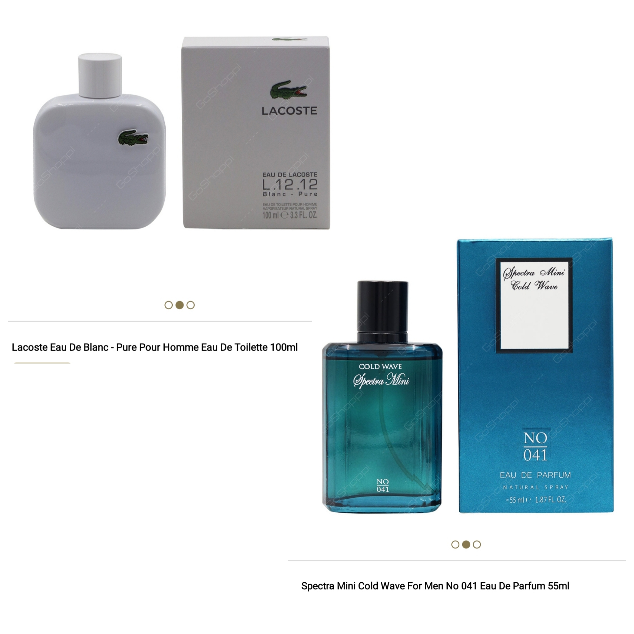 Free Spectra 55ml With Lacoste Blanc 100ml