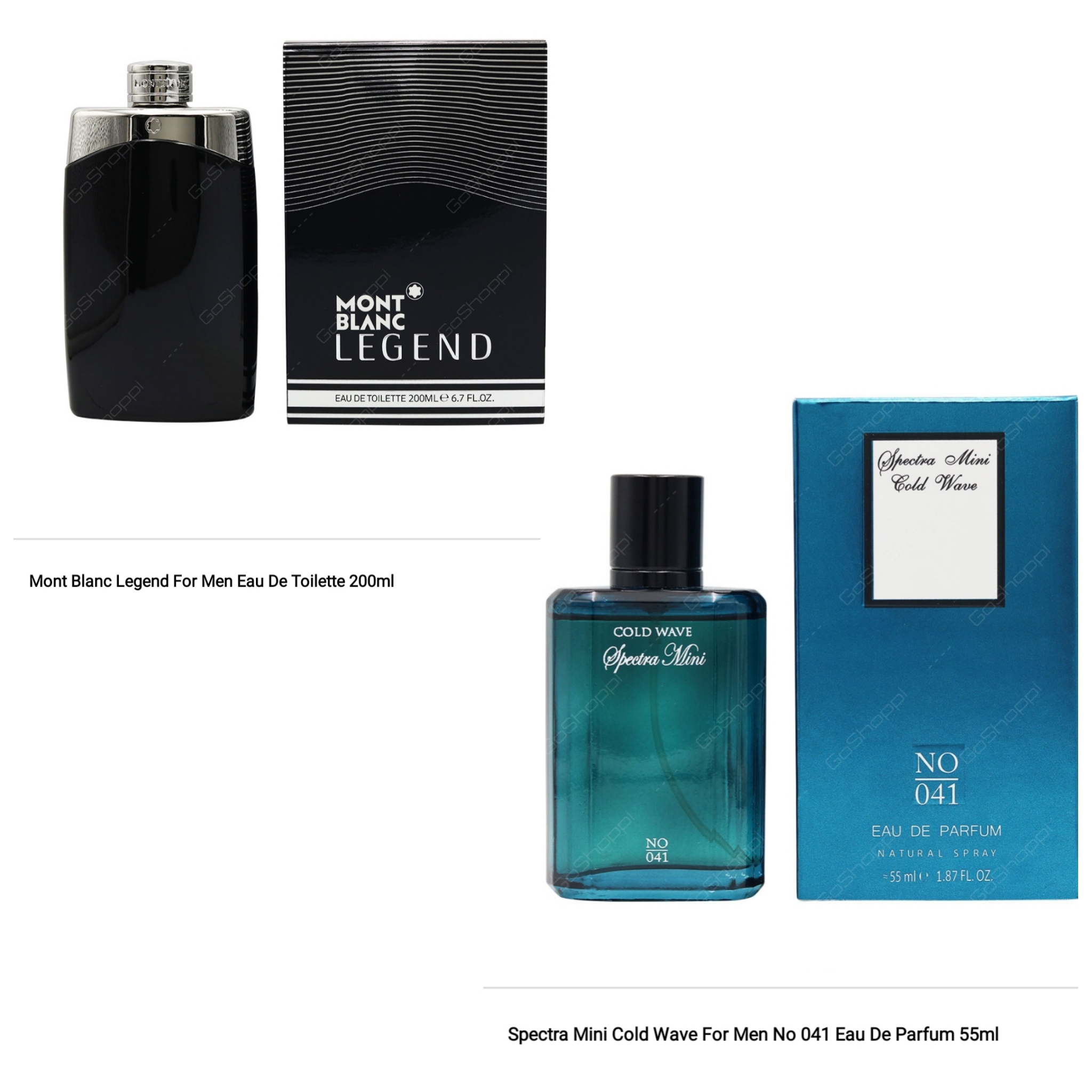 Free Spectra 55ml with Mont Blanc Legend 200ml