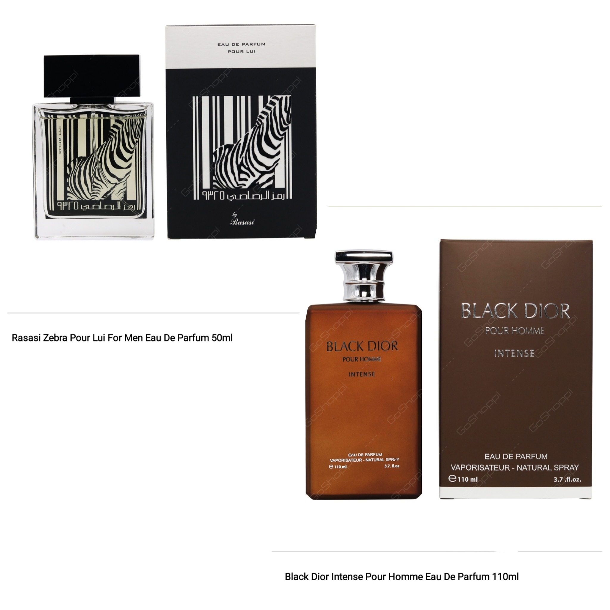 Rasasi Zebra and Black Dior Intense Combo Offer