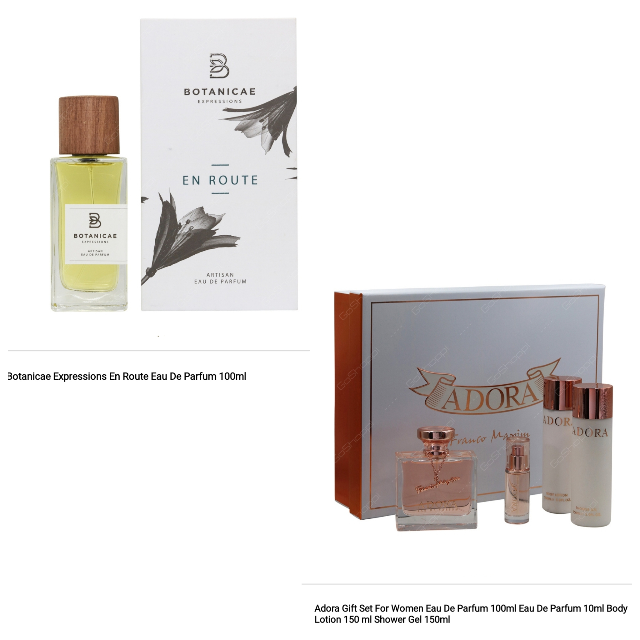 Botanicae En Route 100ml and Adora 4 Pcs Gift sets Combo Offer