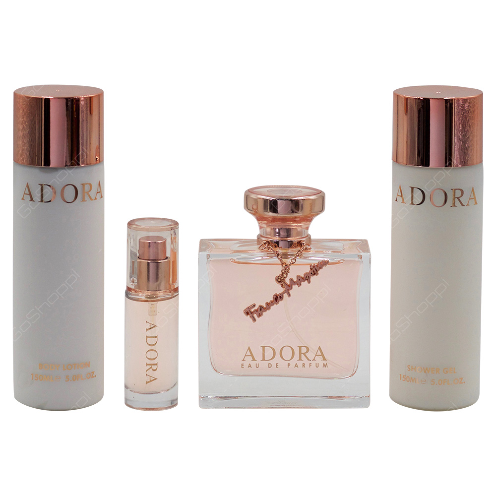 Adora Gift Set For Women Eau De Parfum 100ml Eau De Parfum 10ml Body Lotion 150 ml Shower Gel 150ml