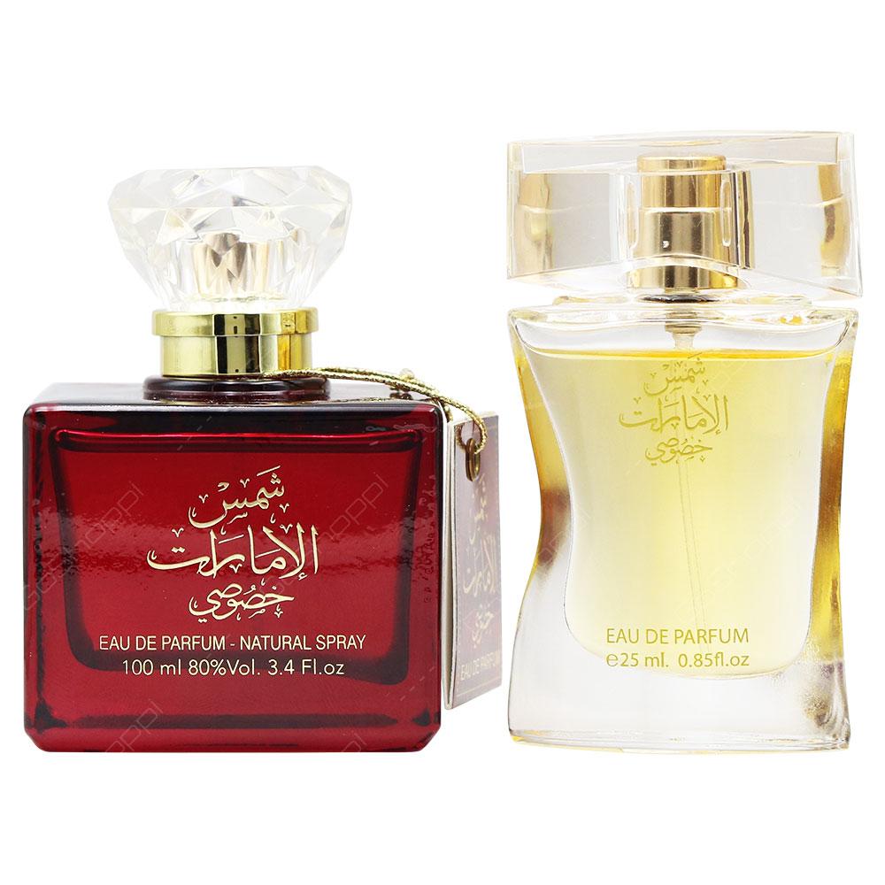 Ard Al Zaafaran Shams Al Emarat Khususi With Free Gift For Women 100ml