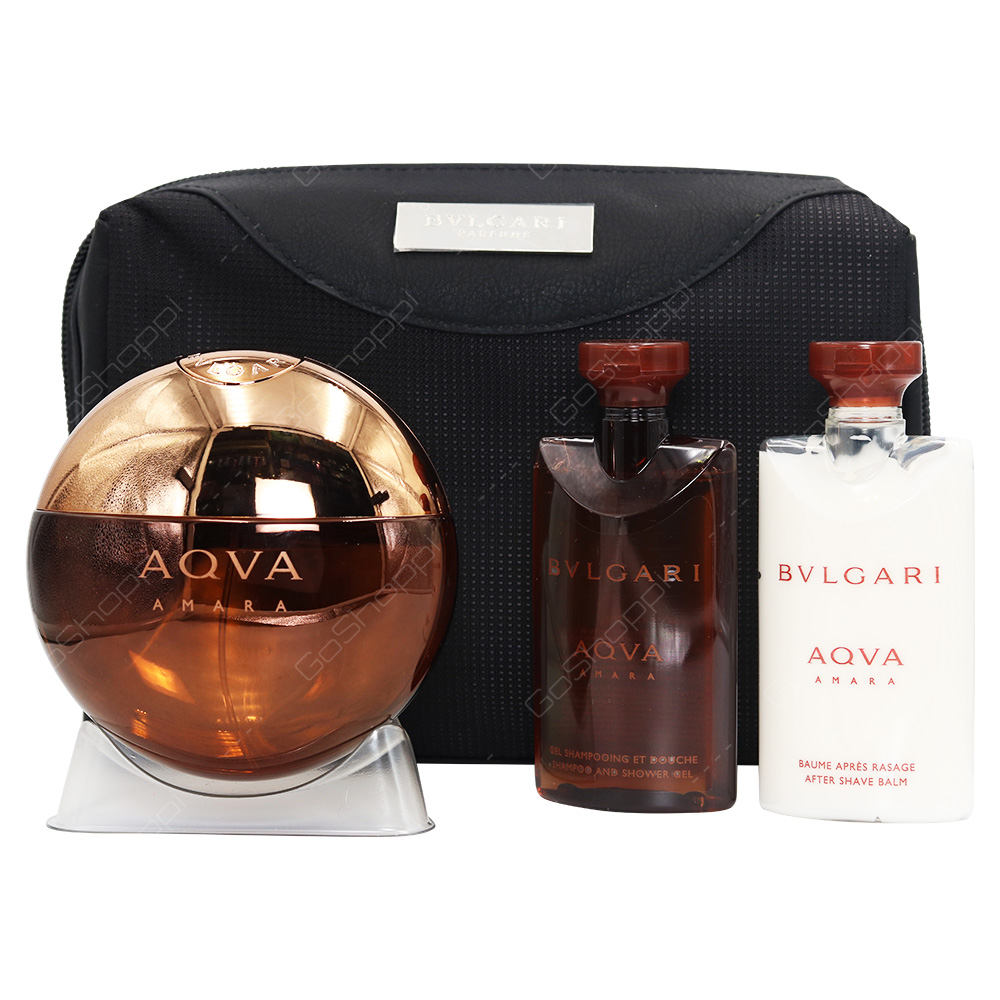 Bvlgari Aqua Amara Gift Set For Men 4pcs