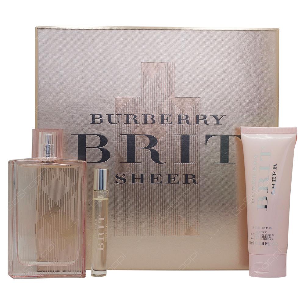 Burberry Birt Sheer Gift Set For Women 3pcs