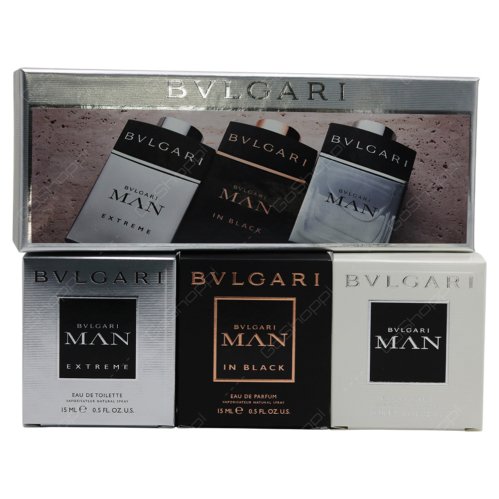 Bvlgari Man Pocket Spray Mini Set 3pcs