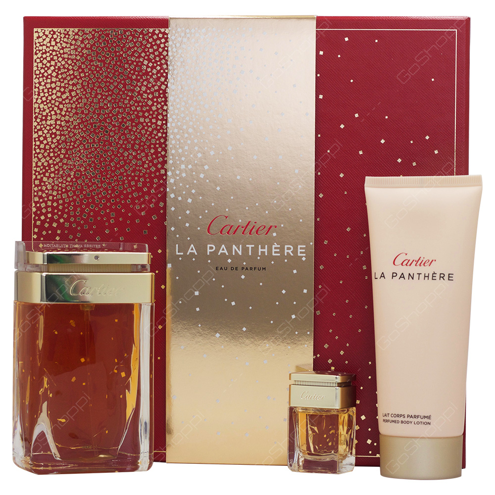 Cartier La Panthere Eau De Parfum Gift Set For Women 3pcs