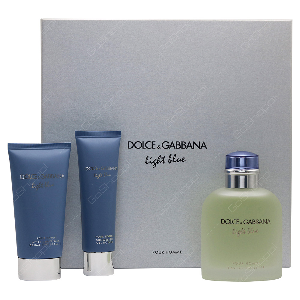 Dolce & Gabbana Light Blue Men Gift Set 3pcs