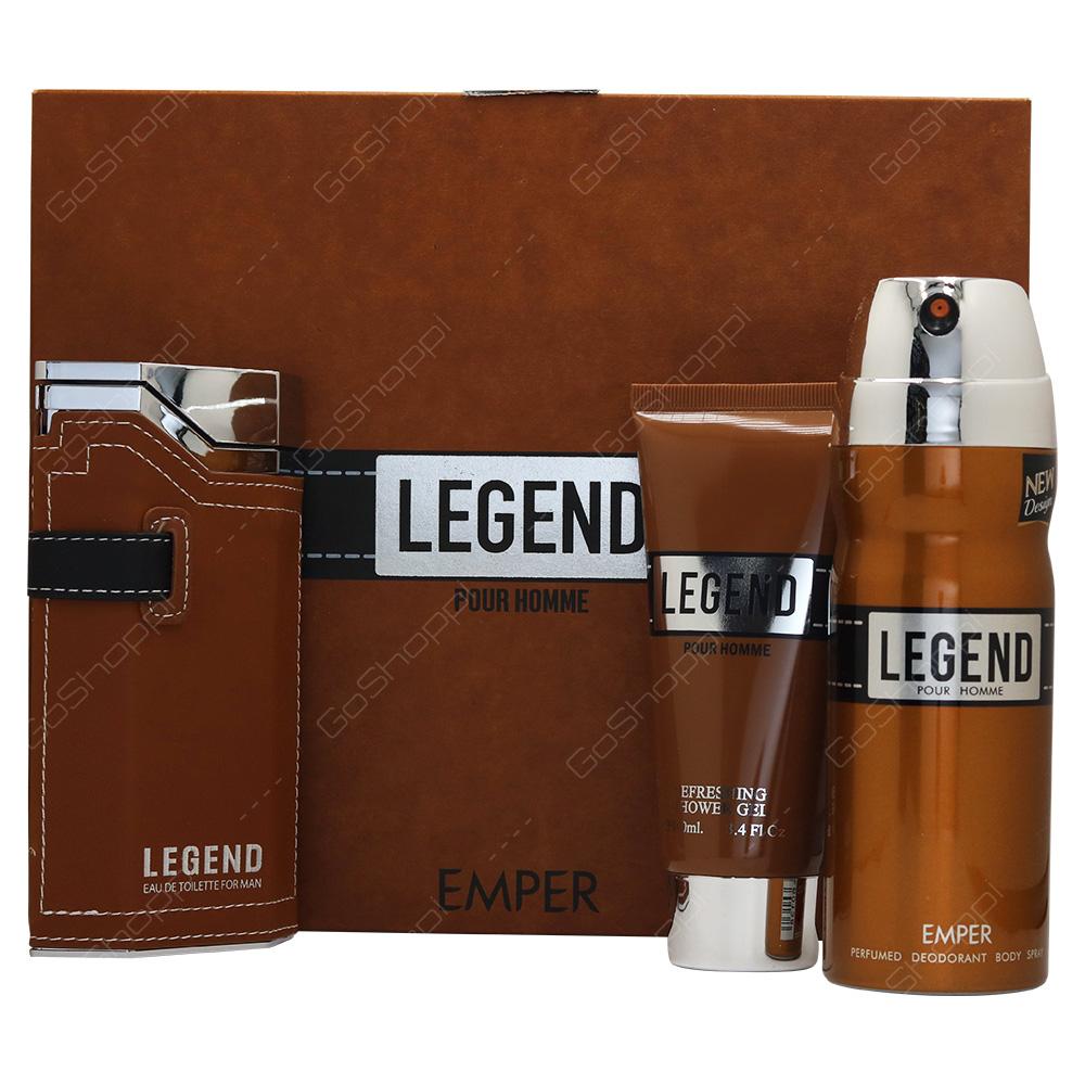 Emper Legend Pour Homme Gift Set 3pcs