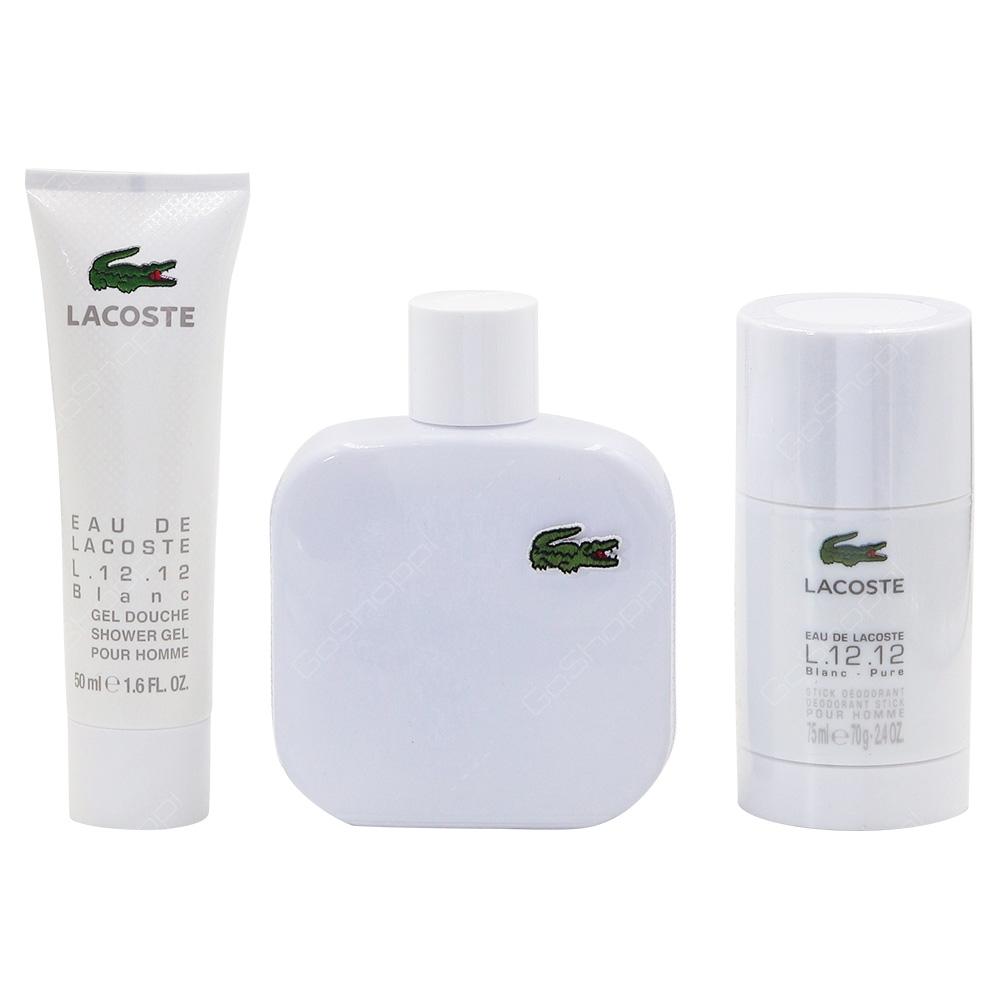 Lacoste Blanc Pure For Him Gift Pack Eau De Toilette 100ml Shower Gel 50ml