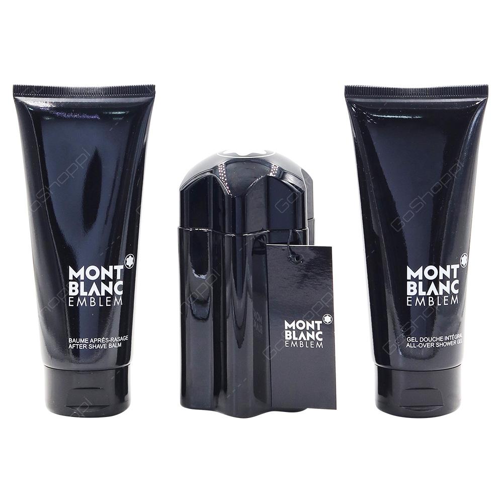Mont Blanc Emblem For Men Gift Pack Eau De Toilette 100ml After Shave Balm 100ml Shower Gel 100ml
