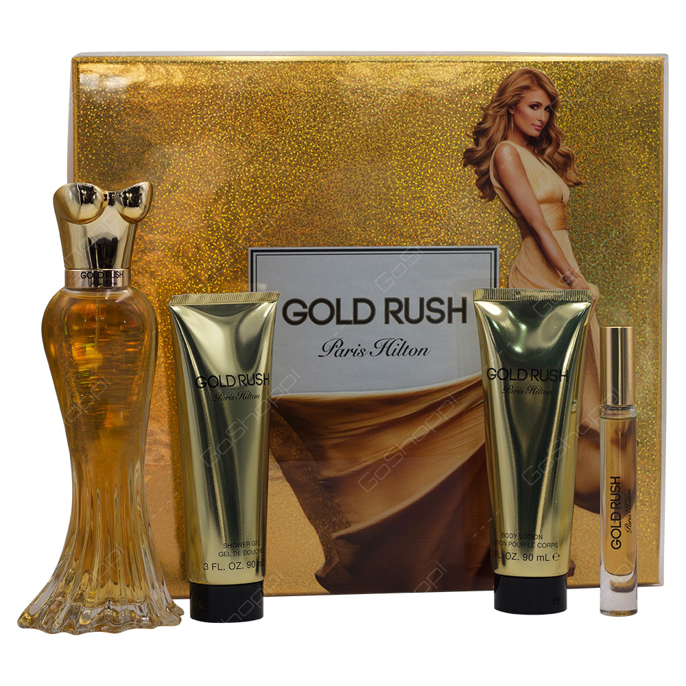 Paris Hilton Gold Rush For Women Gift Set 4pcs