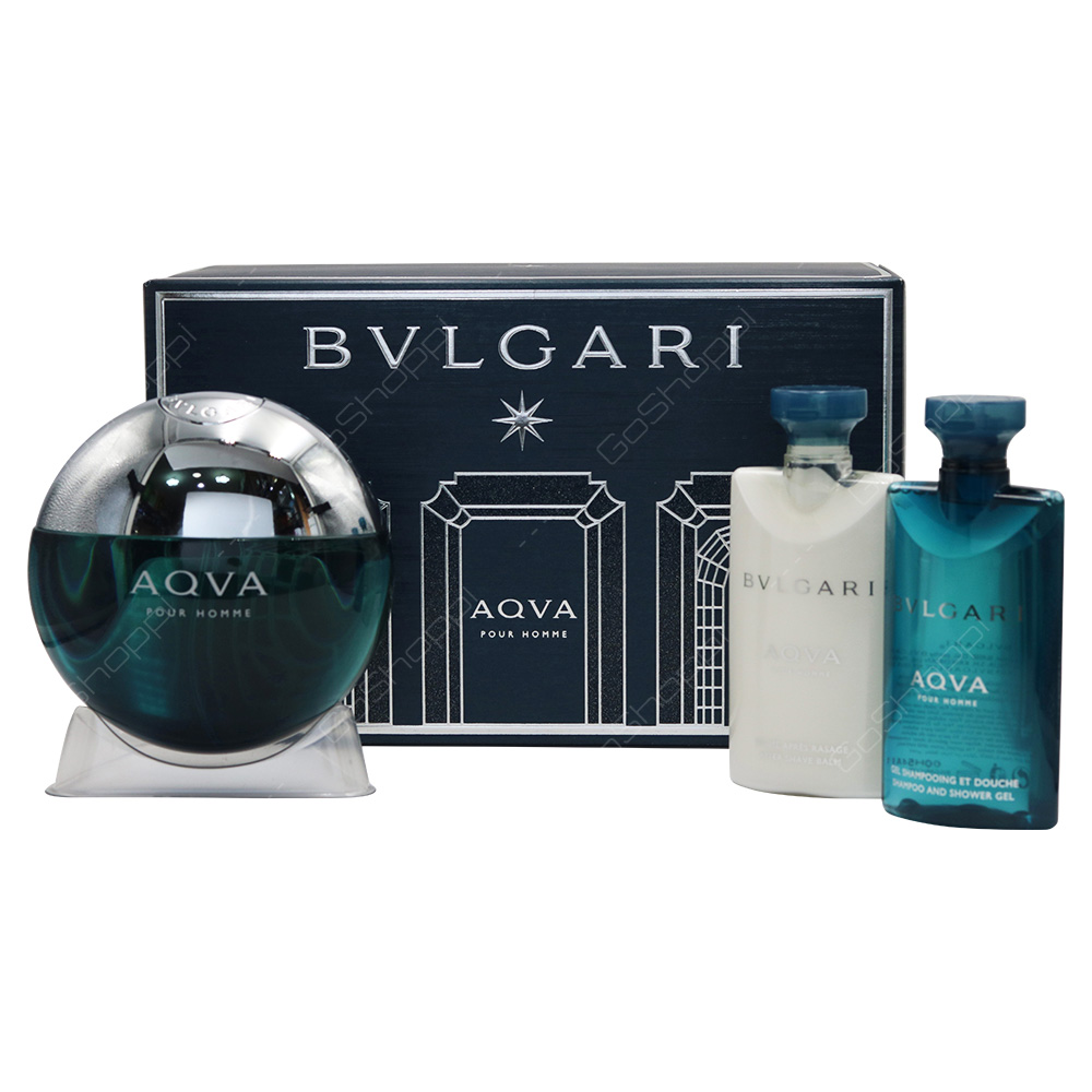 Bvlgari Aqua Men Gift Set With Pouch 4pcs