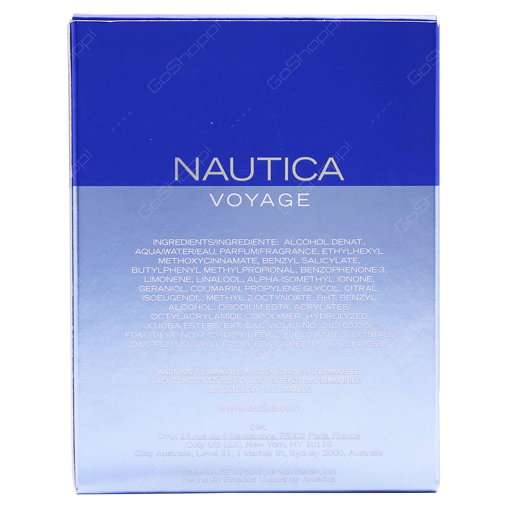 Nautica Voyage For Men Eau De Toilette 100ml