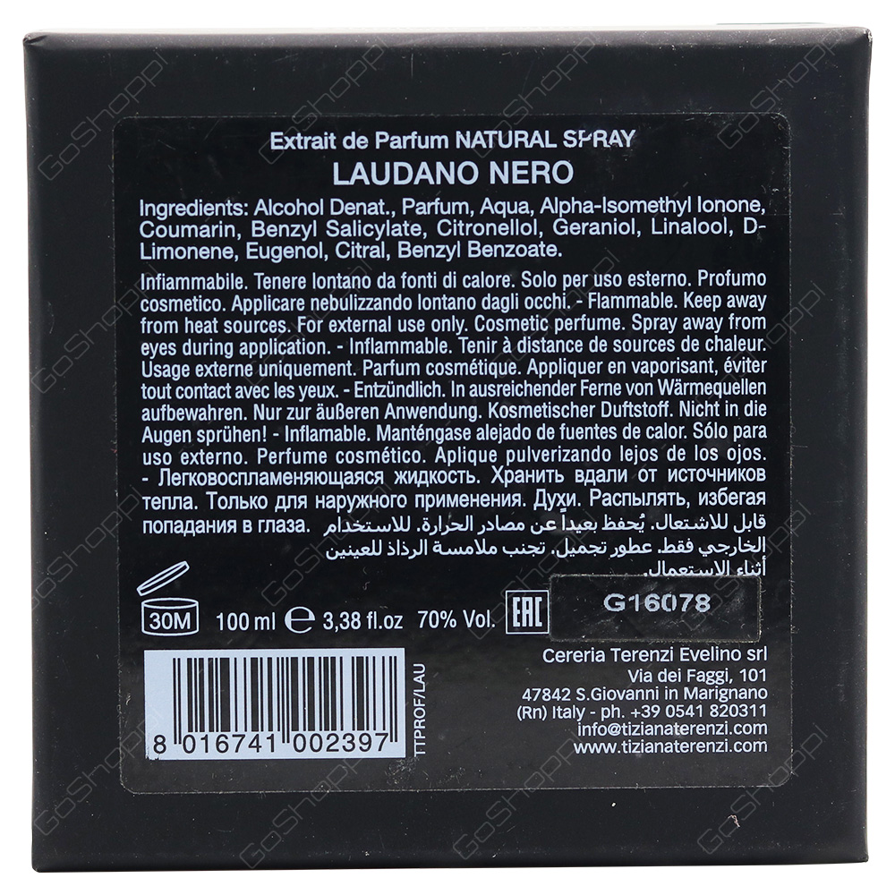 Tiziana Terenzi Laudana Nero For Men Eau De Parfum 100ml
