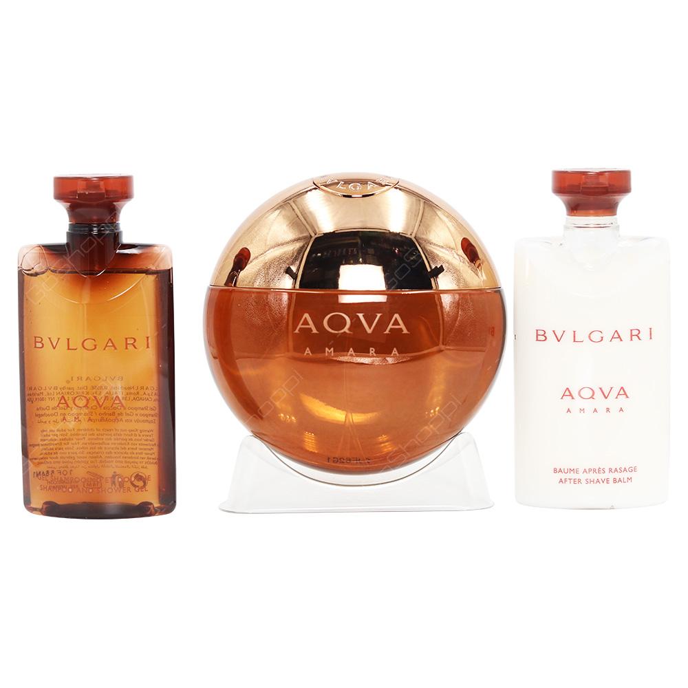 Bvlgari Aqua Amara Gift Set For Men 4pcs
