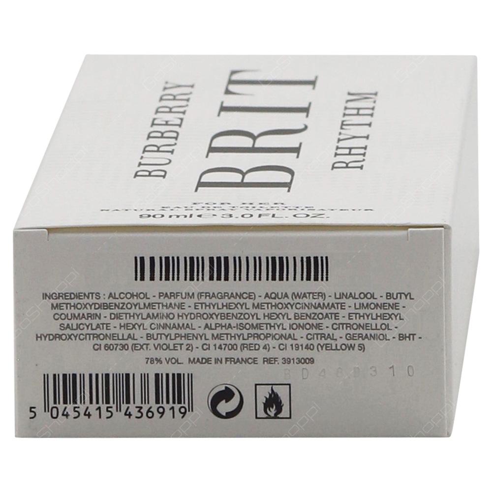Burberry Brit Rhythm For Her Eau De Toilette 90ml