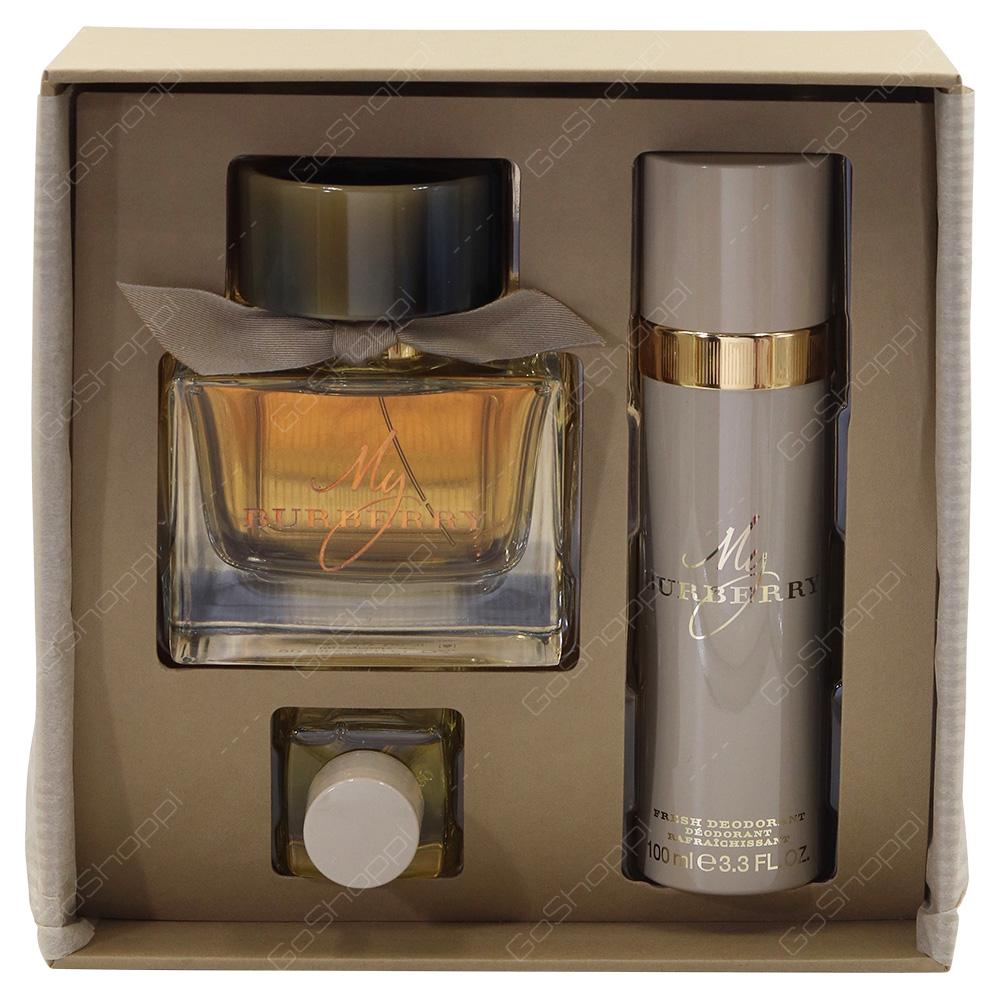 Burberry Gift Pack For Women Eau De Parfum 90ml Deodorant 100ml Shower Oil 30ml