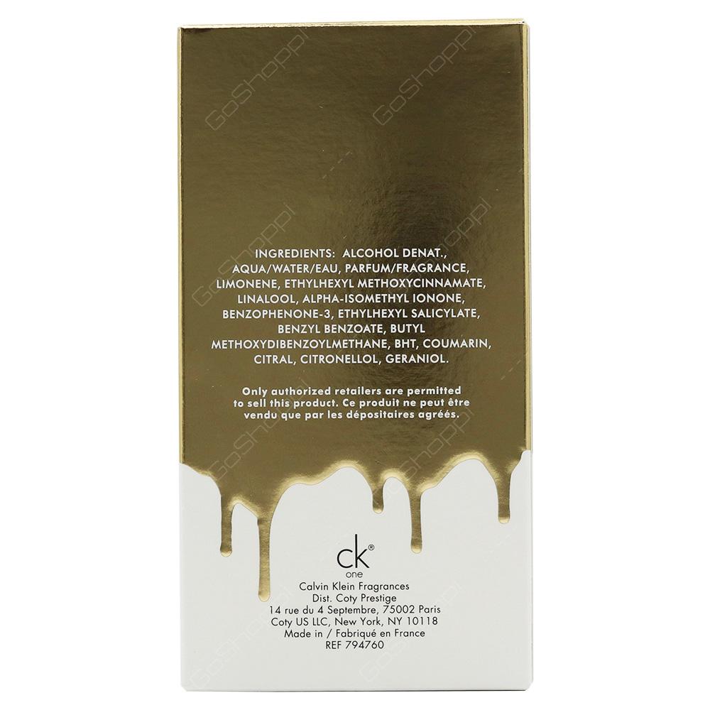 Calvin Klien Calvin Klien One Gold Edition For Men Eau De Toilette 100ml