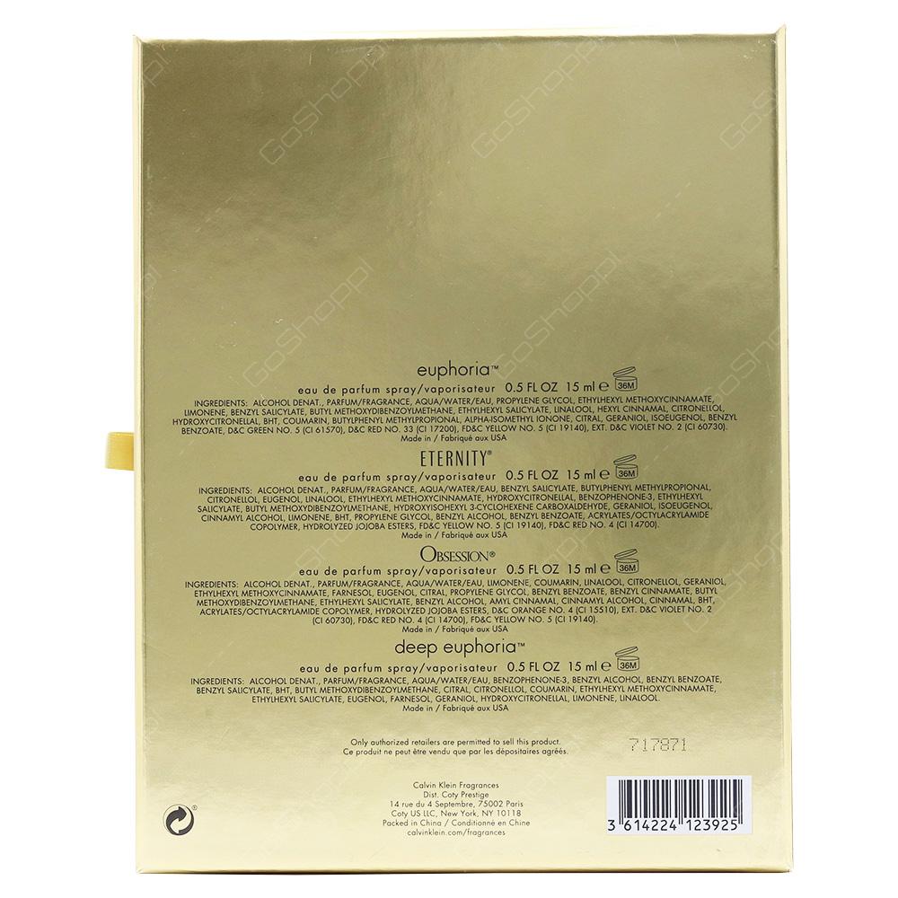 Calvin Klien Mini Gift Set For Women 4pcs