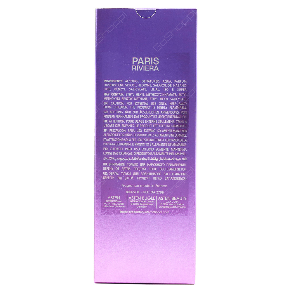 Paris Riviera Mystrey Girl Eau De Toilette 100ml